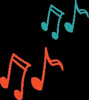 dessin note de note de musique coloré